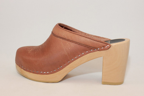 natural emily open back clog