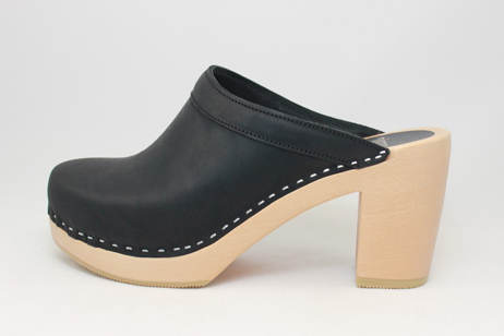black emily open back clog
